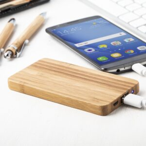 power bank bambou